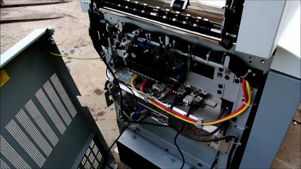 Photocopier being Serviced